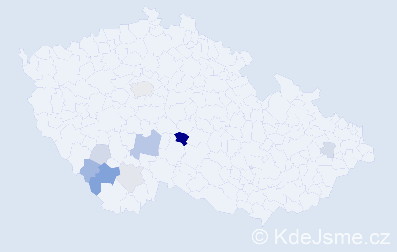 Příjmení: 'Alenka', počet výskytů 20 v celé ČR