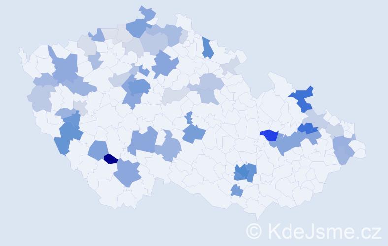 Příjmení: 'Ledererová', počet výskytů 207 v celé ČR