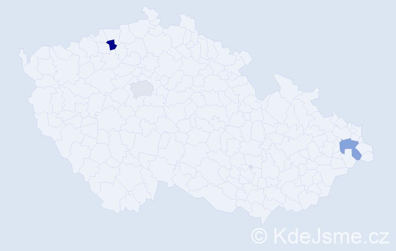 Příjmení: 'Doloszycká', počet výskytů 3 v celé ČR