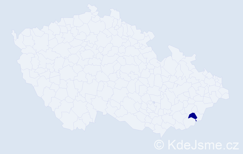 """Příjmení: '""""El Hahi""""', počet výskytů 2 v celé ČR"""