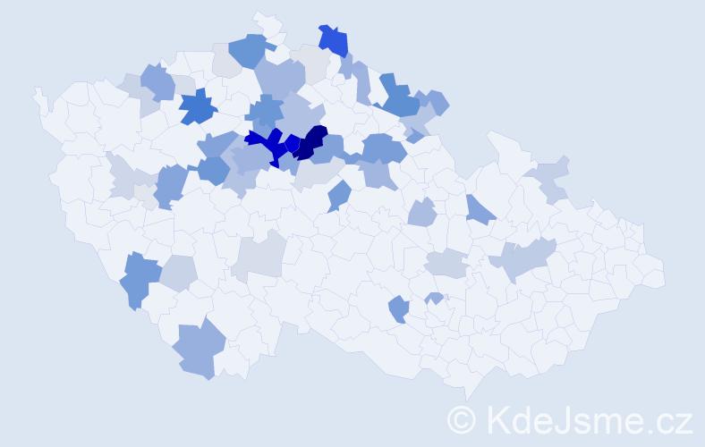 Příjmení: 'Klicperová', počet výskytů 165 v celé ČR