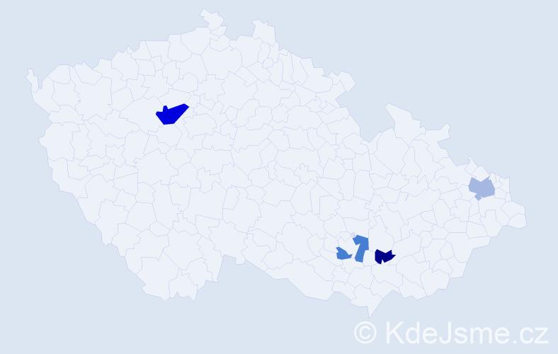 Příjmení: 'Hrotík', počet výskytů 10 v celé ČR
