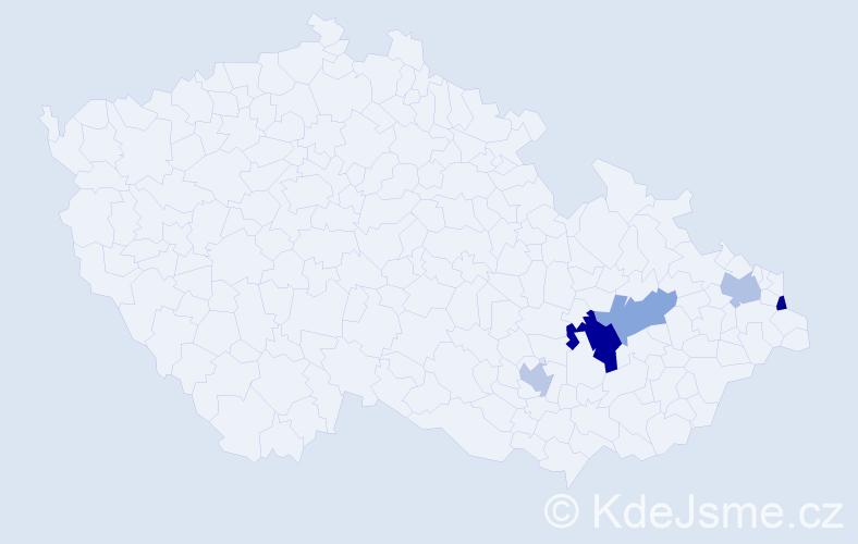 Příjmení: 'Lelitová', počet výskytů 7 v celé ČR