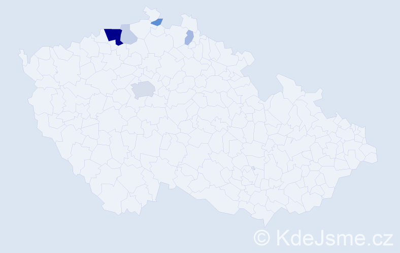 Příjmení: 'Bittersmann', počet výskytů 17 v celé ČR