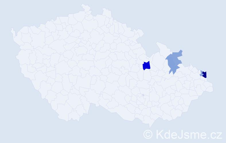 Příjmení: 'Balasová', počet výskytů 12 v celé ČR