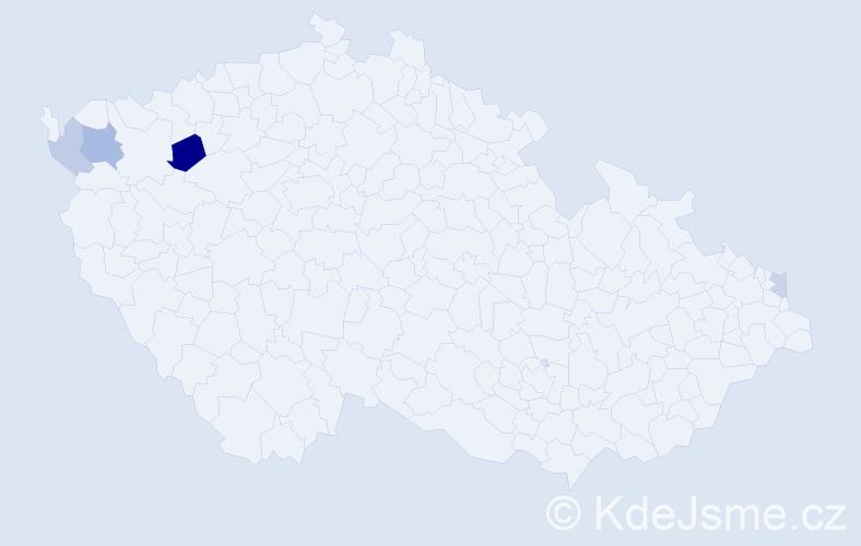 Příjmení: 'Bartakovics', počet výskytů 7 v celé ČR