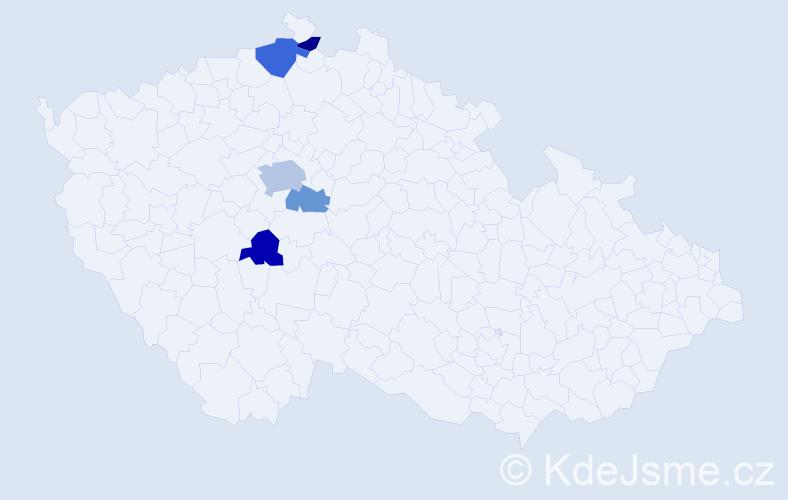 Příjmení: 'Faják', počet výskytů 9 v celé ČR