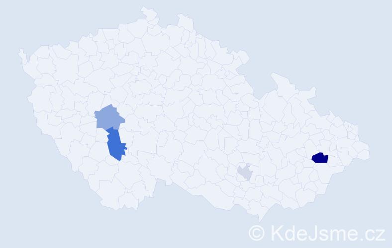 Příjmení: 'Bowen', počet výskytů 7 v celé ČR