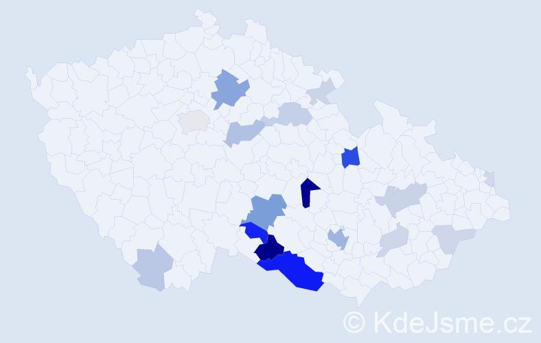 Příjmení: 'Čírtková', počet výskytů 57 v celé ČR