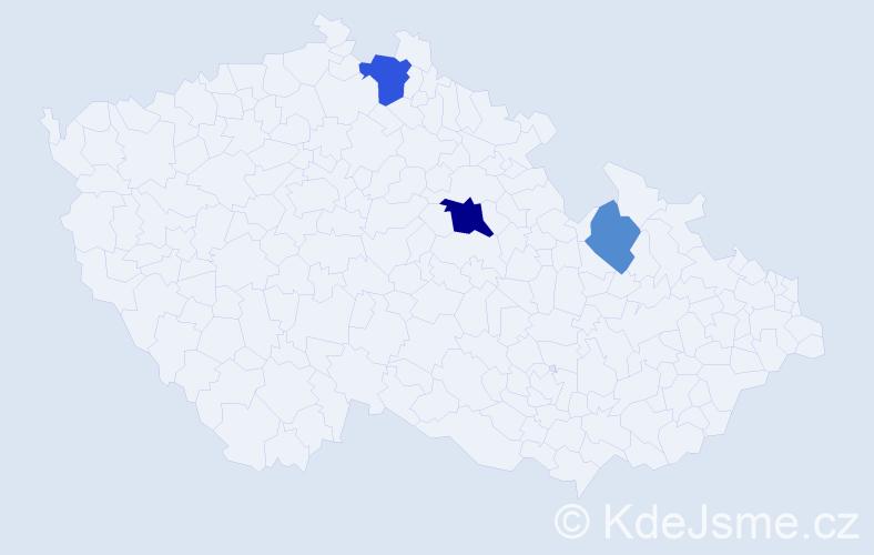 Příjmení: 'Breznay', počet výskytů 6 v celé ČR