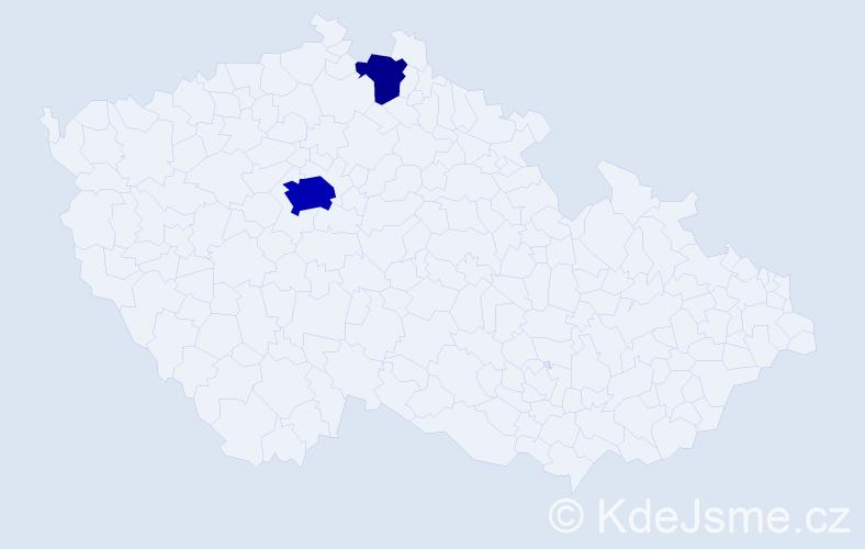 Příjmení: 'Čikara', počet výskytů 7 v celé ČR