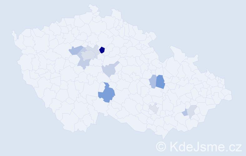 Příjmení: 'Hromadník', počet výskytů 29 v celé ČR