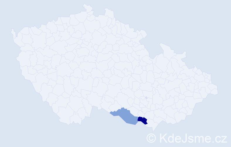 Příjmení: 'Dürmayerová', počet výskytů 2 v celé ČR