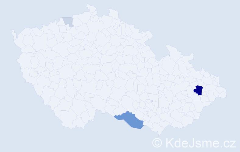 Příjmení: 'Imeri', počet výskytů 12 v celé ČR