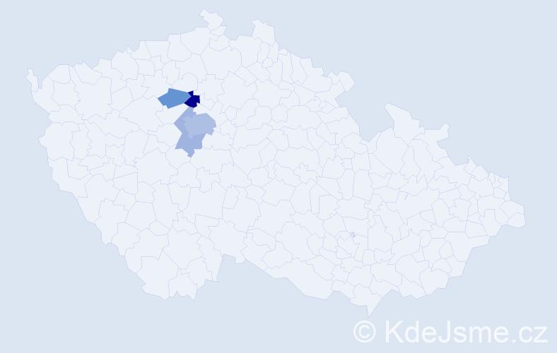 Příjmení: 'Braunsperger', počet výskytů 10 v celé ČR