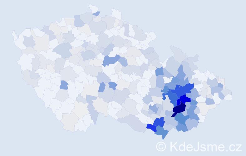 Příjmení: 'Hrabalová', počet výskytů 1125 v celé ČR