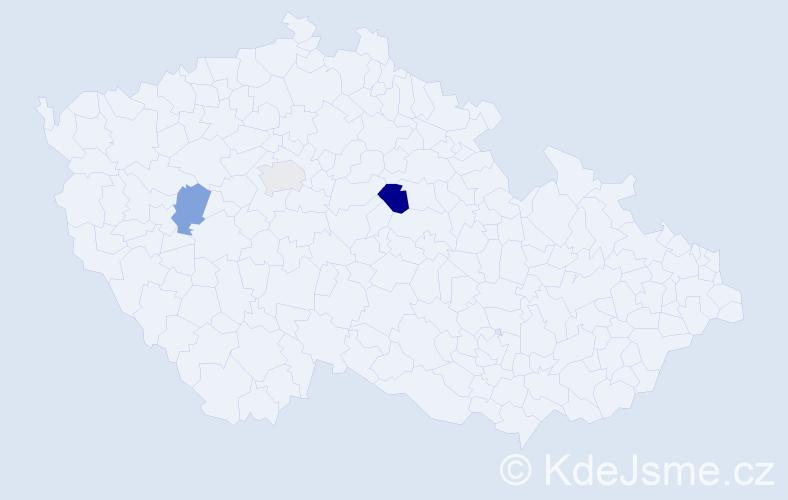 Příjmení: 'Capaliniová', počet výskytů 4 v celé ČR