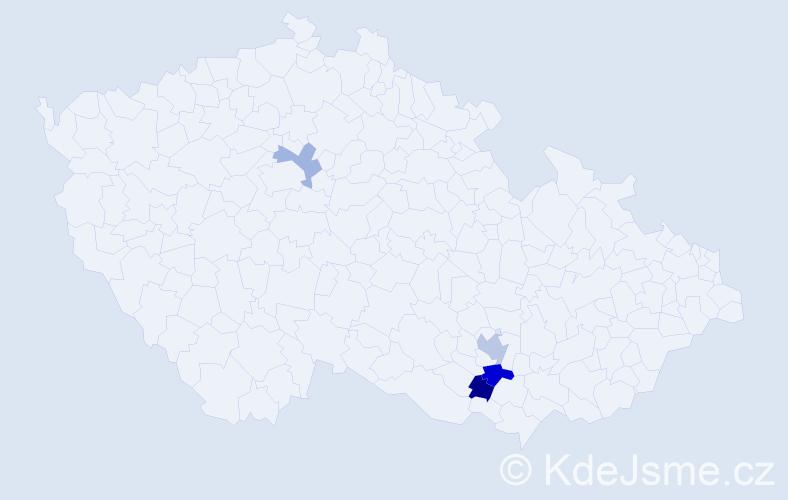 Příjmení: 'Kolíšek', počet výskytů 6 v celé ČR