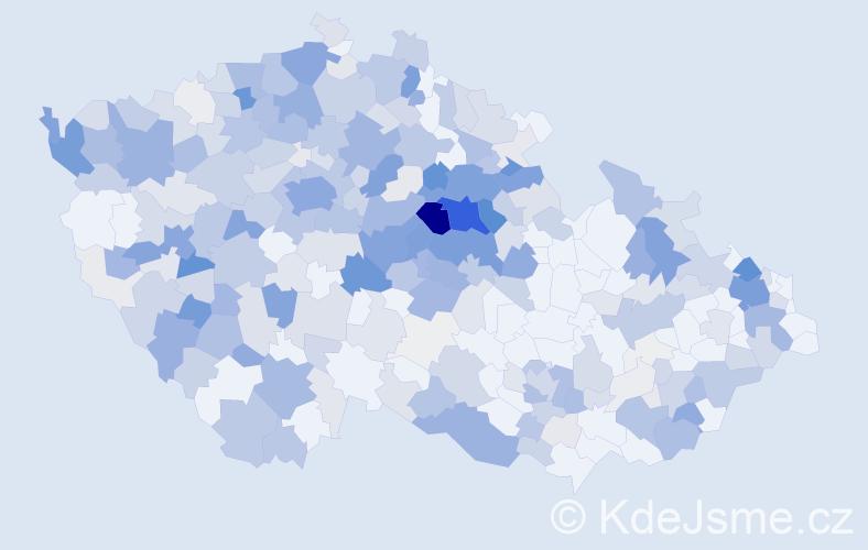 Příjmení: 'Černíková', počet výskytů 1341 v celé ČR