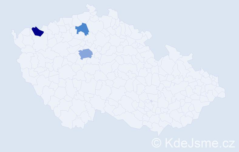 Příjmení: 'Kaabi', počet výskytů 7 v celé ČR