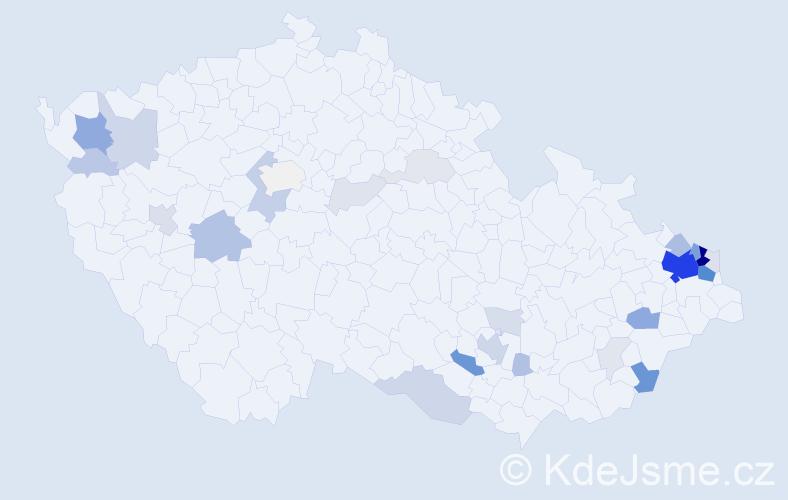 Příjmení: 'Dubnický', počet výskytů 121 v celé ČR