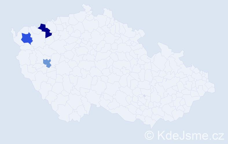 Příjmení: 'Illesová', počet výskytů 3 v celé ČR
