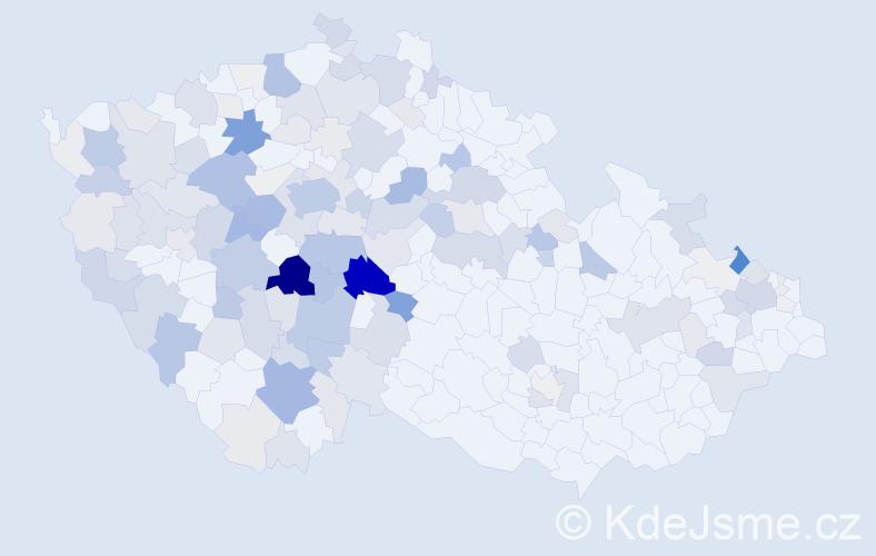 Příjmení: 'Jankovský', počet výskytů 507 v celé ČR