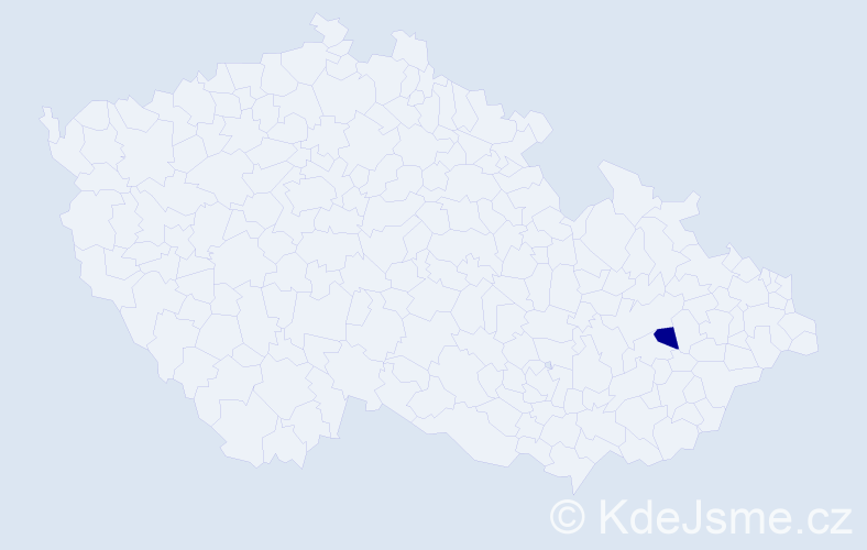 Příjmení: 'Bladišin', počet výskytů 2 v celé ČR