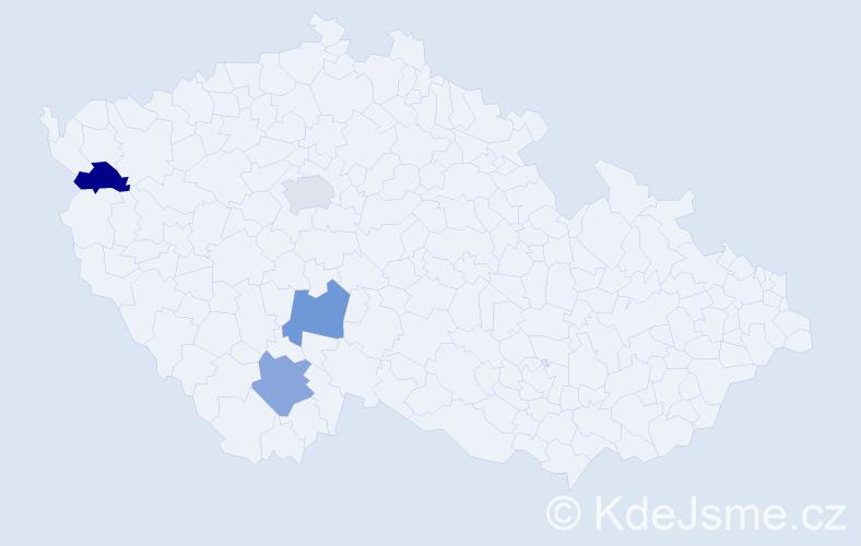 Příjmení: 'Iĺko', počet výskytů 4 v celé ČR