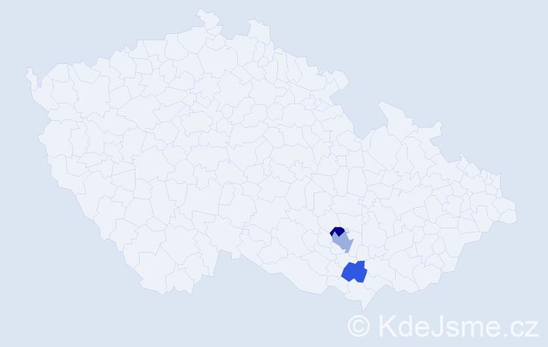Příjmení: 'Bunčiaková', počet výskytů 8 v celé ČR