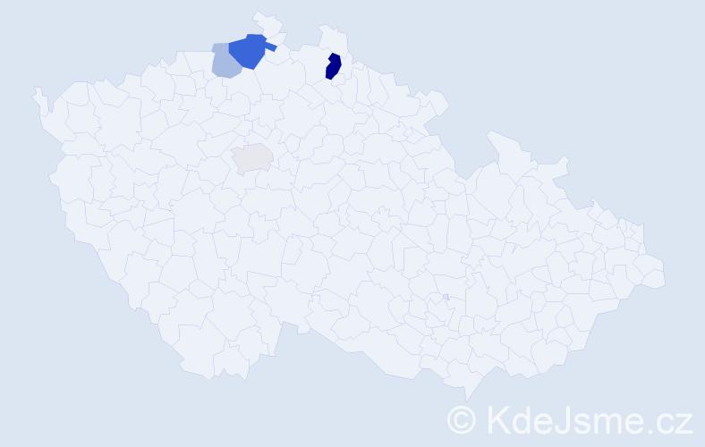 Příjmení: 'Gratzelová', počet výskytů 9 v celé ČR