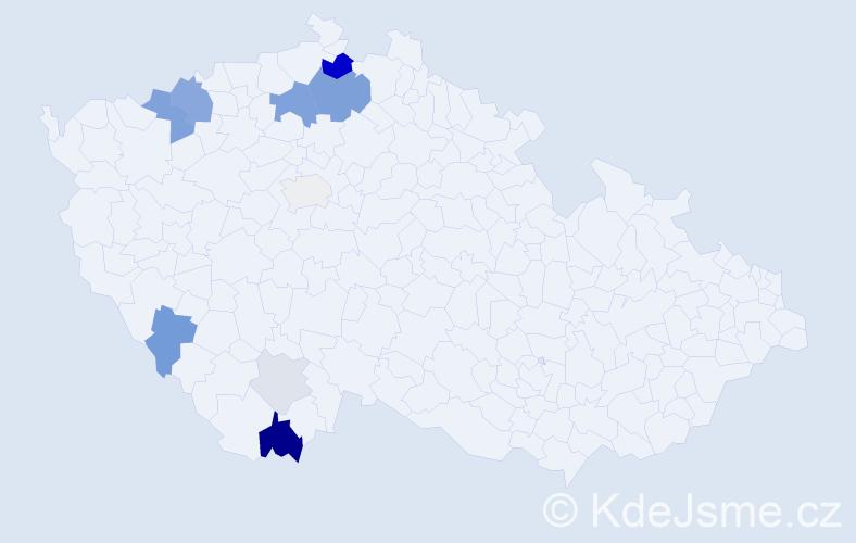 Příjmení: 'Hami', počet výskytů 31 v celé ČR