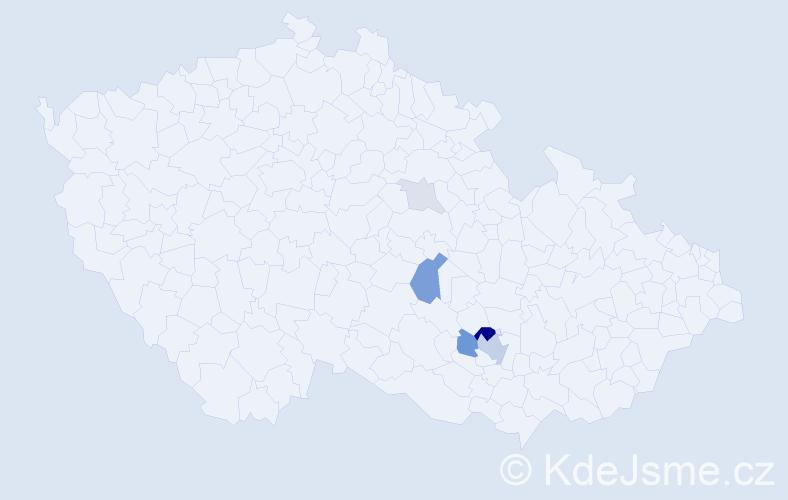 Příjmení: 'Ingrštová', počet výskytů 16 v celé ČR