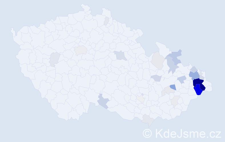 Příjmení: 'Drabinová', počet výskytů 119 v celé ČR
