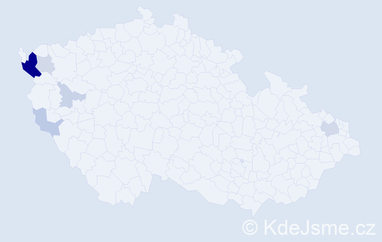 Příjmení: 'Červenický', počet výskytů 18 v celé ČR