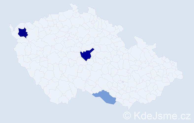 Příjmení: 'Klobko', počet výskytů 6 v celé ČR
