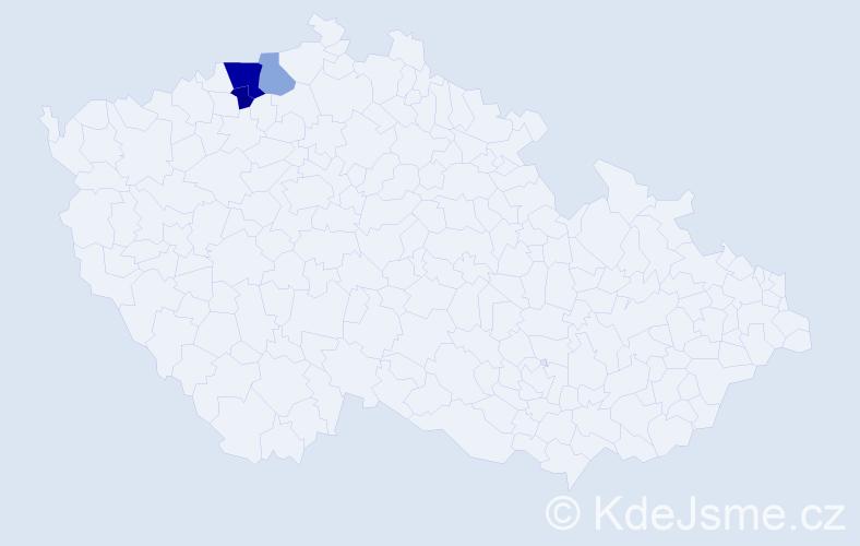 Příjmení: 'Heraitová', počet výskytů 6 v celé ČR