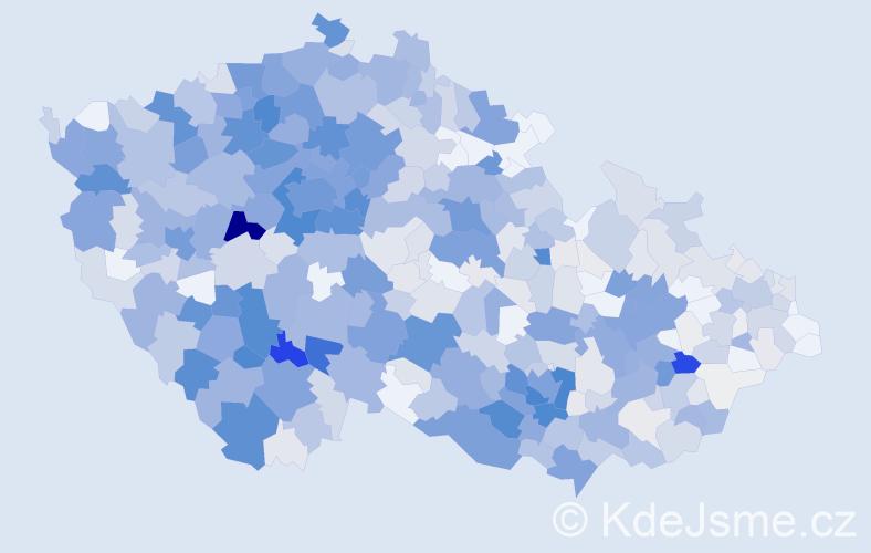 Příjmení: 'Hrdlička', počet výskytů 3278 v celé ČR