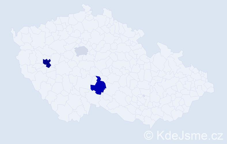 Příjmení: 'Farajzl', počet výskytů 5 v celé ČR