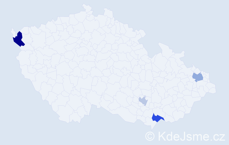 Příjmení: 'Danczik', počet výskytů 12 v celé ČR