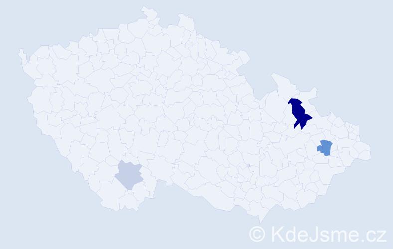 Příjmení: 'Boženík', počet výskytů 7 v celé ČR