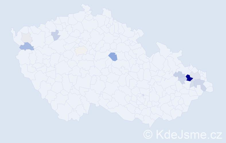 Příjmení: 'Ertel', počet výskytů 47 v celé ČR
