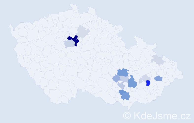 Příjmení: 'Krkavcová', počet výskytů 51 v celé ČR