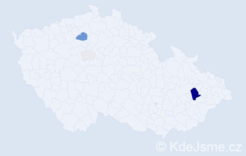 Příjmení: 'Baranayová', počet výskytů 5 v celé ČR