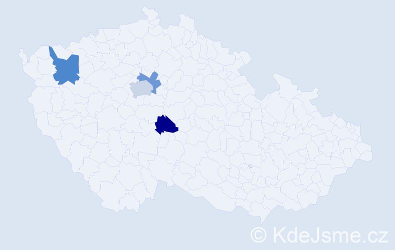 Příjmení: 'Gabriss', počet výskytů 11 v celé ČR