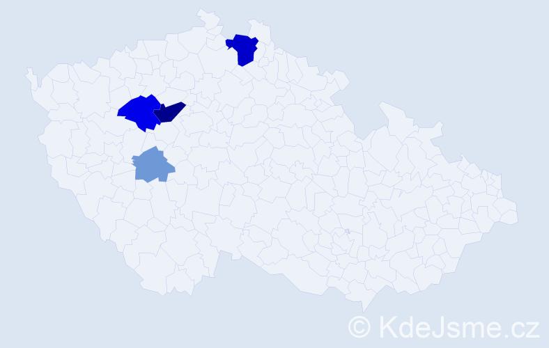 Příjmení: 'Enderštová', počet výskytů 11 v celé ČR