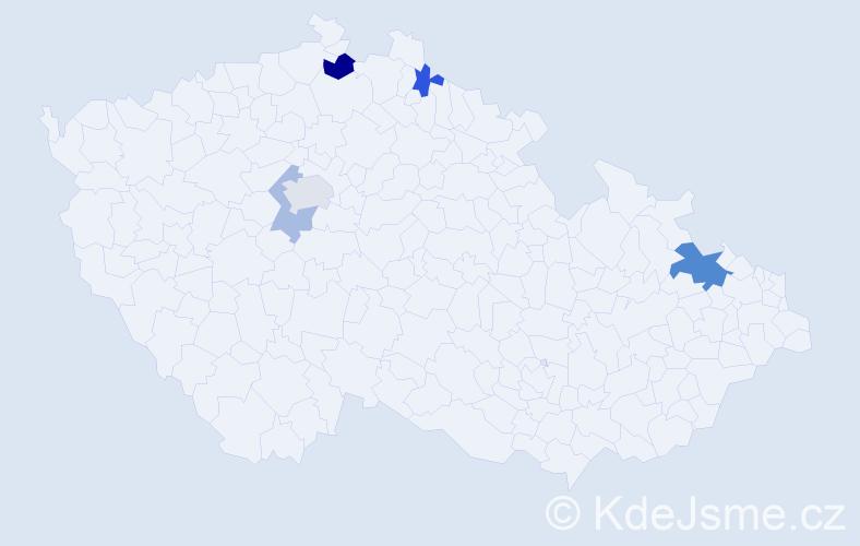 Příjmení: 'Germaničová', počet výskytů 9 v celé ČR