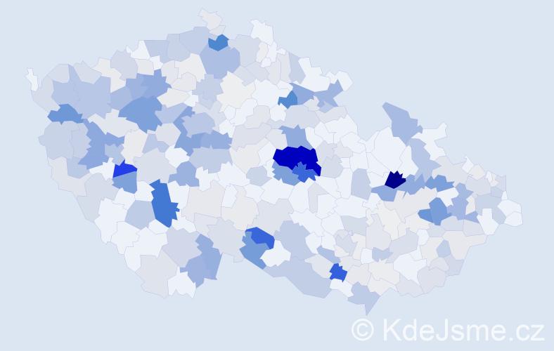 Příjmení: 'Horníková', počet výskytů 963 v celé ČR