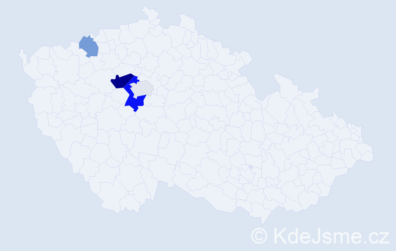 Příjmení: 'Jednorožec', počet výskytů 9 v celé ČR
