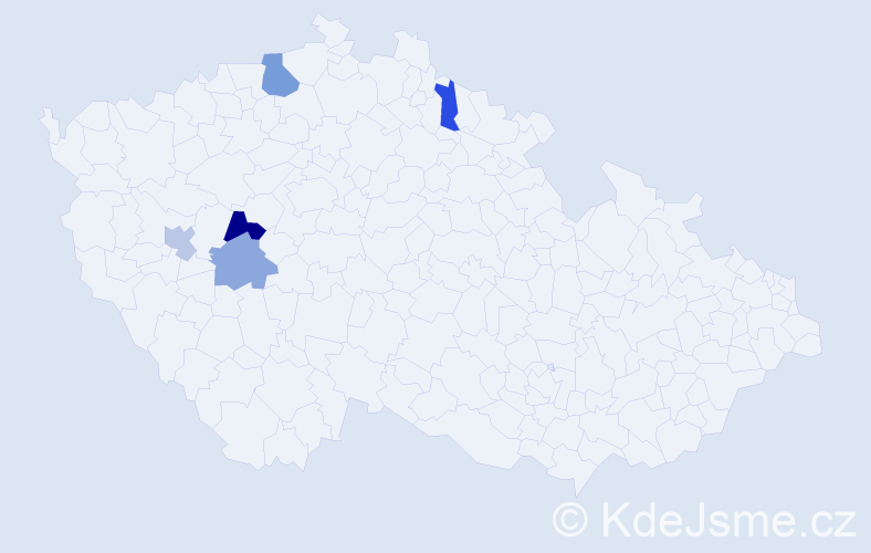 Příjmení: 'Brnušáková', počet výskytů 7 v celé ČR